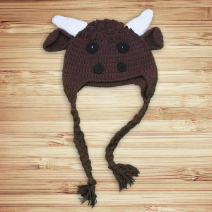 Little Bull Crochet Beanie Hat