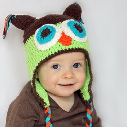 Blue Green Owl Hat
