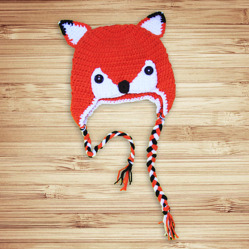 Sly Fox Orange Crochet Hat